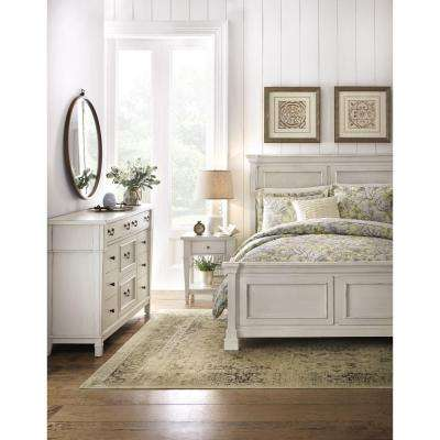 Bridgeport 8-Drawer Antique Grey Dresser
