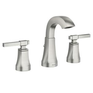 Moen Ayda 8 In Widespread 2 Handle Bathroom Faucet In Spot Resist Brushed Nickel 84748srn The