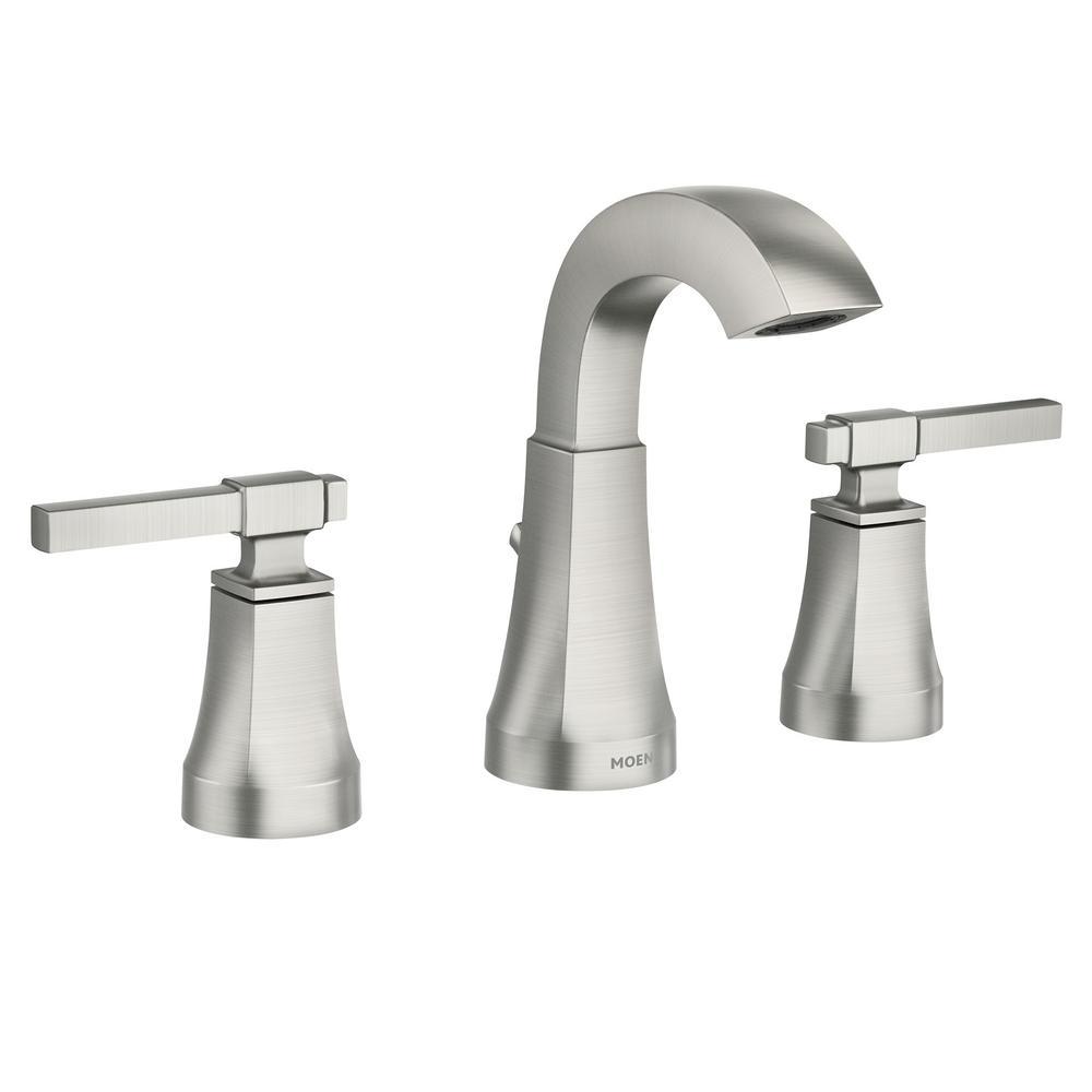 Ayda 8 in. Widespread 2-Handle Bathroom Faucet in Spot Resist Brushed Nickel
