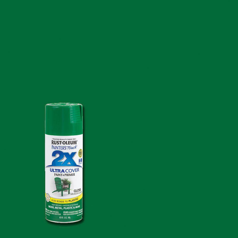 Rust-Oleum Painter's Touch 2X 12 oz. Gloss Meadow Green General Purpose Spray Paint