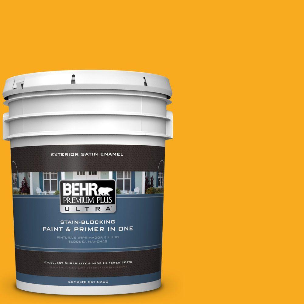 BEHR Premium Plus Ultra 5-gal. #P270-7 Sunny Side Up Satin Enamel Exterior Paint