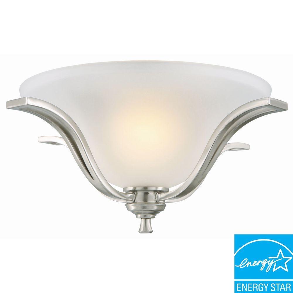 Ironwood 2-Light Satin Nickel Ceiling Mount Light