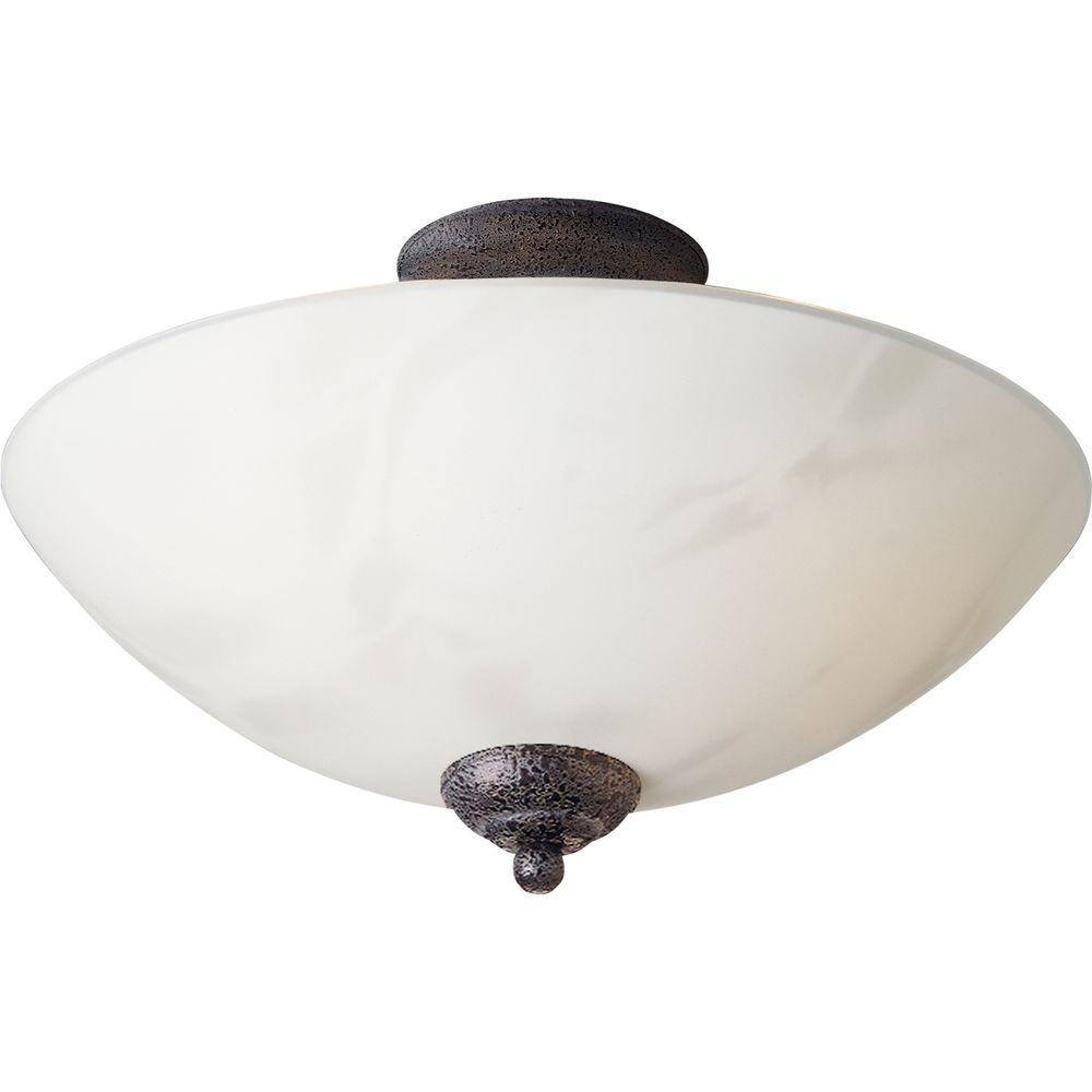 Progress Lighting Travera Collection Copper Verde 3-light Semi-flushmount-DISCONTINUED