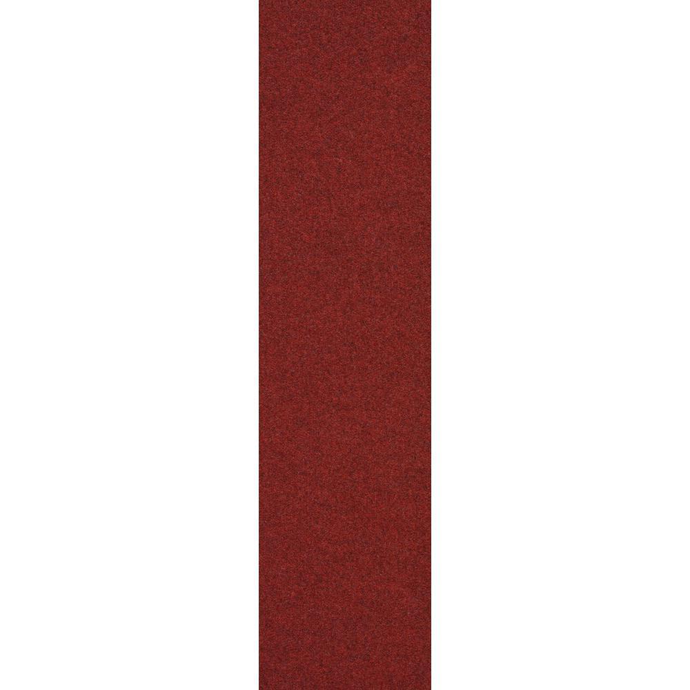 Premium Self-Stick Sangria Color Accent Planks 9 in. x 36 in. Indoor/Outdoor Carpet Tile (8 Tiles/18 sq. ft./case)