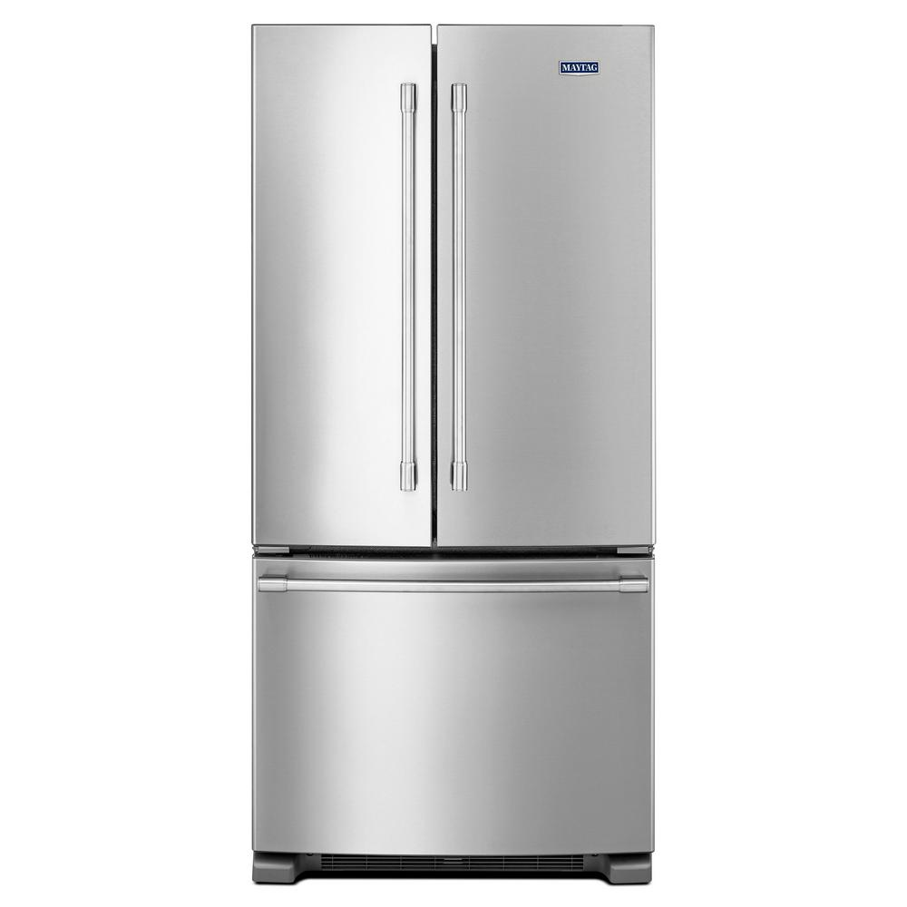 French Door Refrigerator In Fingerprint Resistant Stainless Steel Silver
