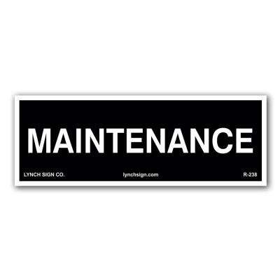 9 in. x 3 in. Maintenance Decal