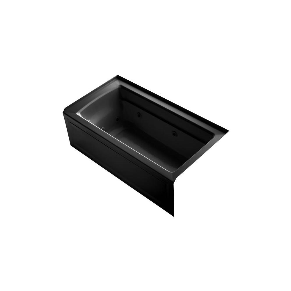 KOHLER Archer 5 ft. Whirlpool Tub in Black Black