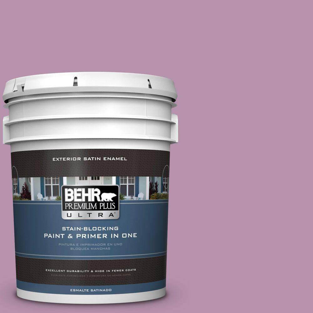 BEHR Premium Plus Ultra 5-gal. #680D-5 Bed of Roses Satin Enamel Exterior Paint