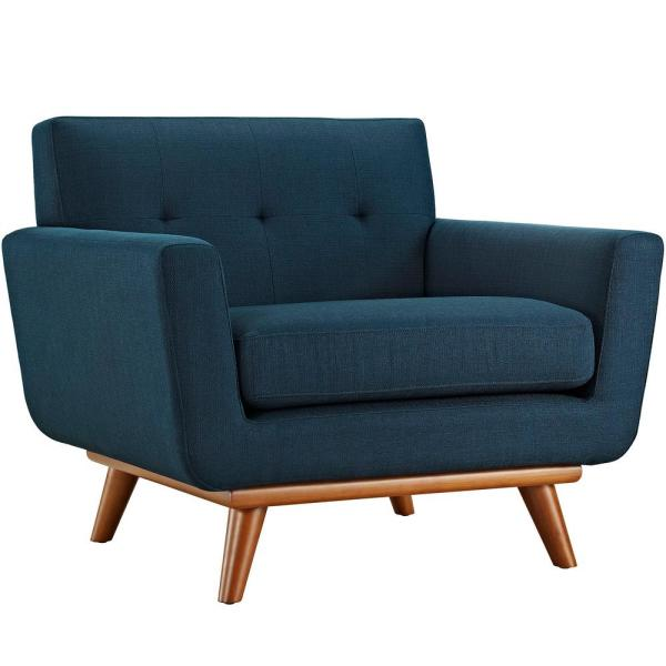MODWAY Engage Upholstered Armchair in Azure