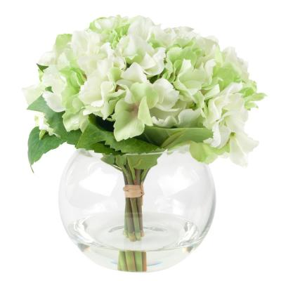 9 in. Hydrangea Floral Green Arrangement