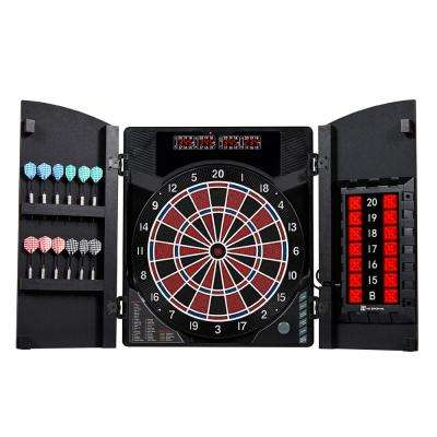 New Haven Electronic Dartboard with Cabinet