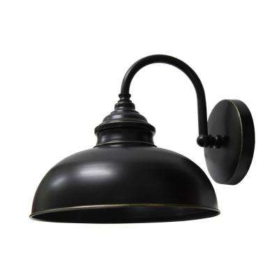 1-Light Imperial Black Outdoor Wall Mount Sconce Light