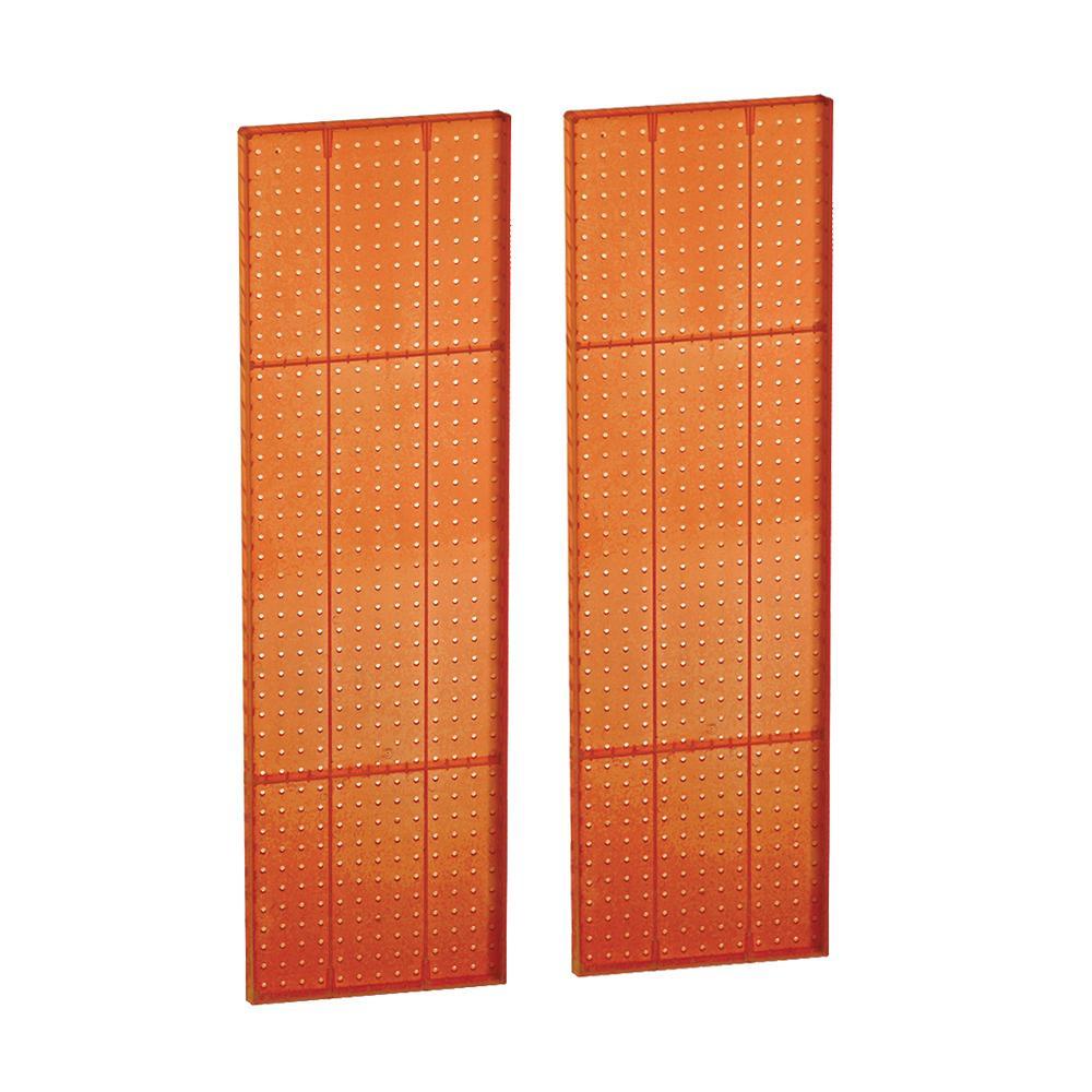 44 in. H x 13.5 in. W Pegboard Styrene Orange (2-Piece per Box)