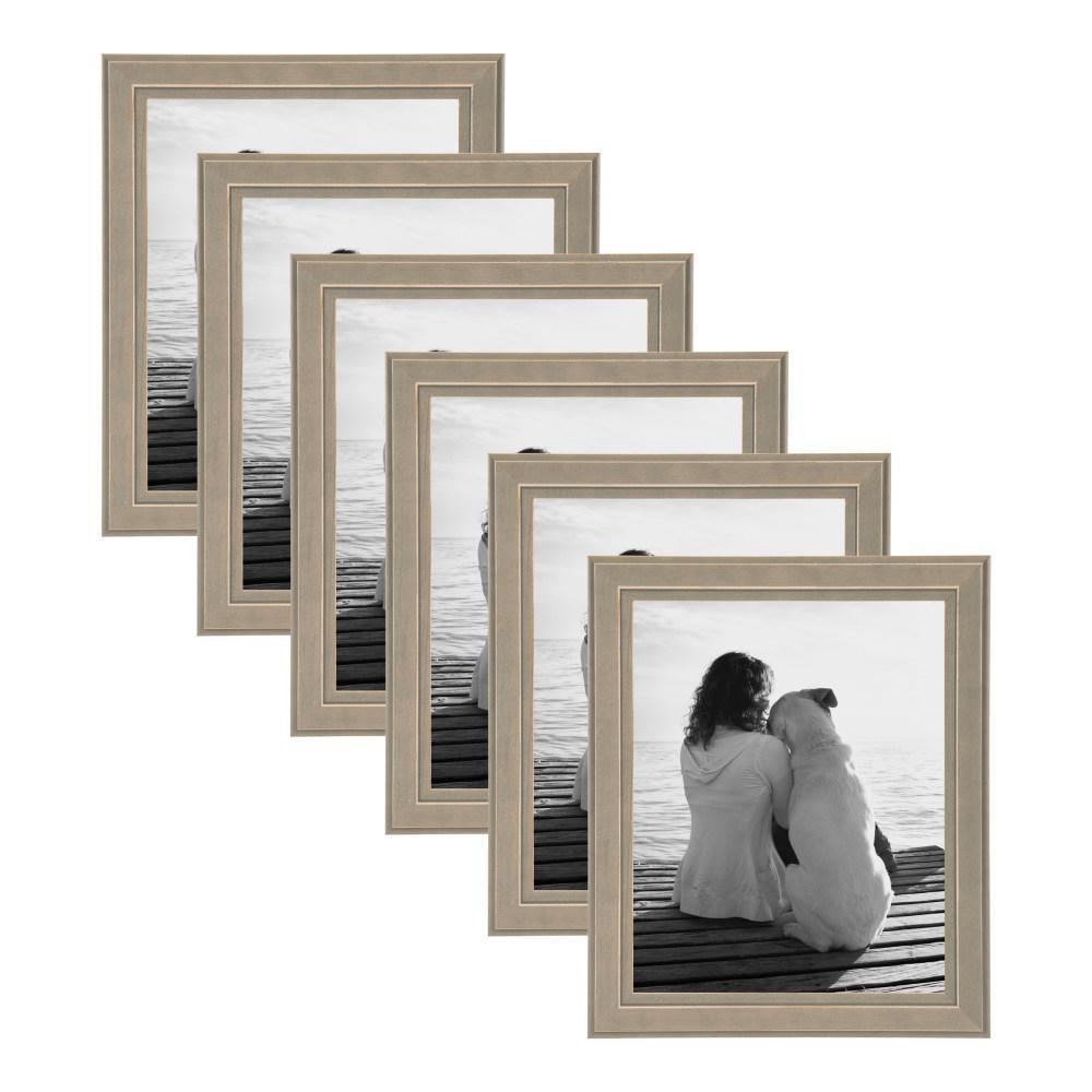 Kieva 8 in. x 10 in. Gray Picture Frame (Set of 6)
