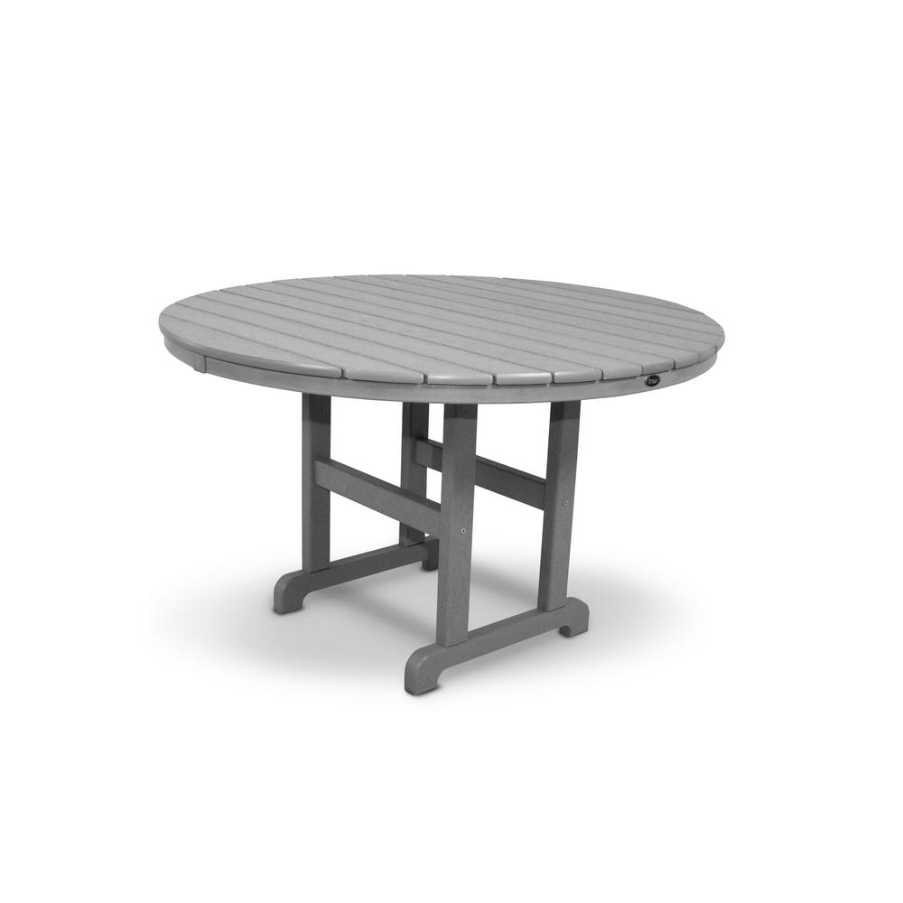 trex outdoor furniture monterey bay 48 in stepping stone round patio dining table txrt248ss. Black Bedroom Furniture Sets. Home Design Ideas