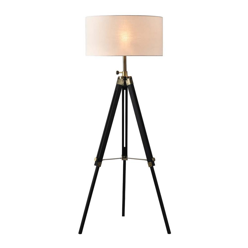 Surveyor 57 in. Tripod Matte Black Floor Lamp