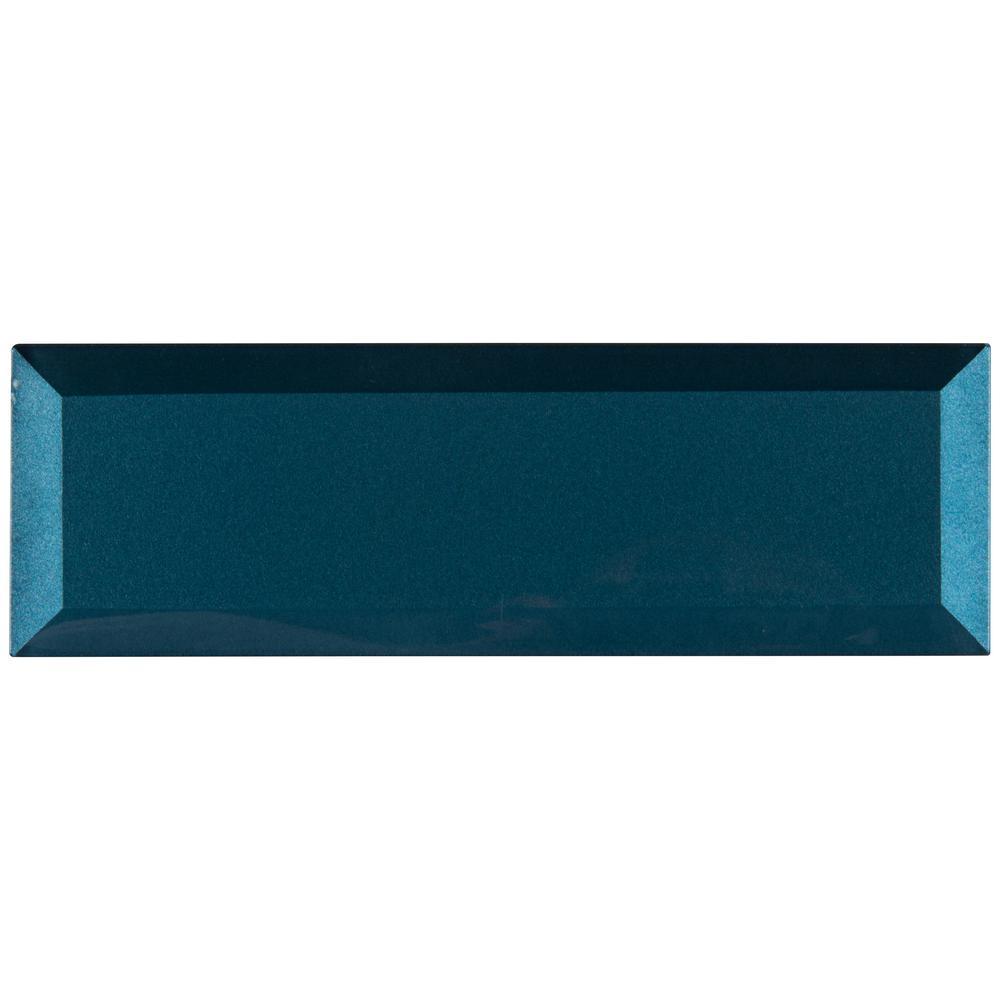 MSI Tahiti Blue Beveled 2.5 in. x 9 in. x 8mm Glass Wall Tile (5.6 sq. ft. / case)