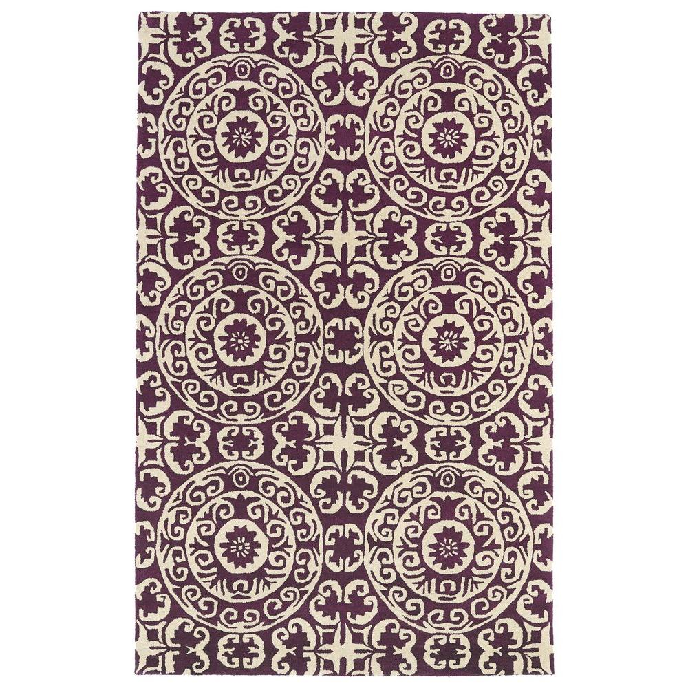 Evolution Purple 9 ft. 6 in. x 13 ft. Area Rug