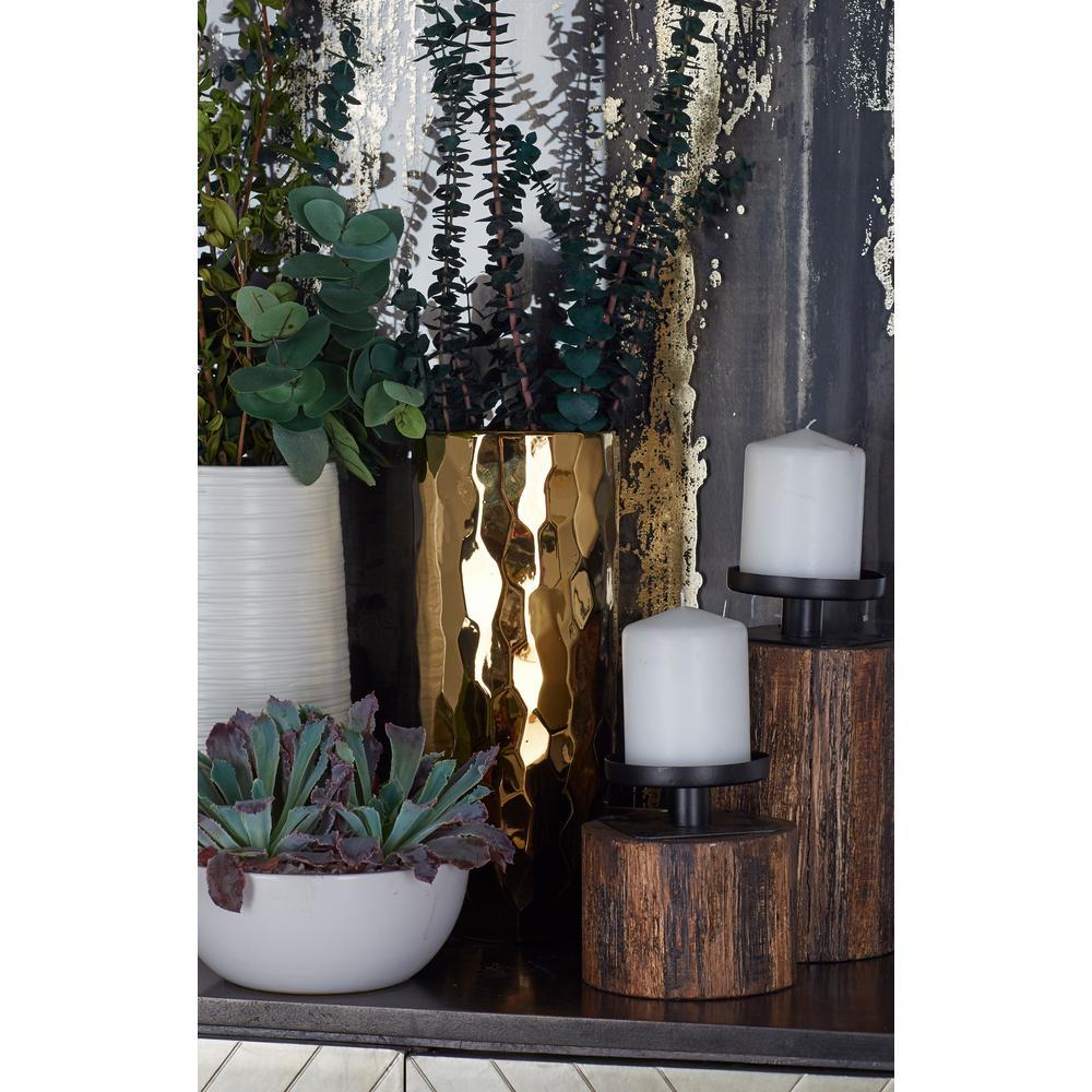 Metallic Gold Ceramic Decorative Vase