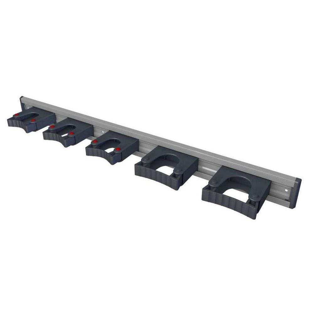 ToolFlex 36 in. Aluminum Rail with 5 Mounted Tool Holders