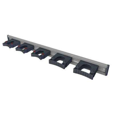 36 in. Aluminum Rail with 5 Mounted Tool Holders