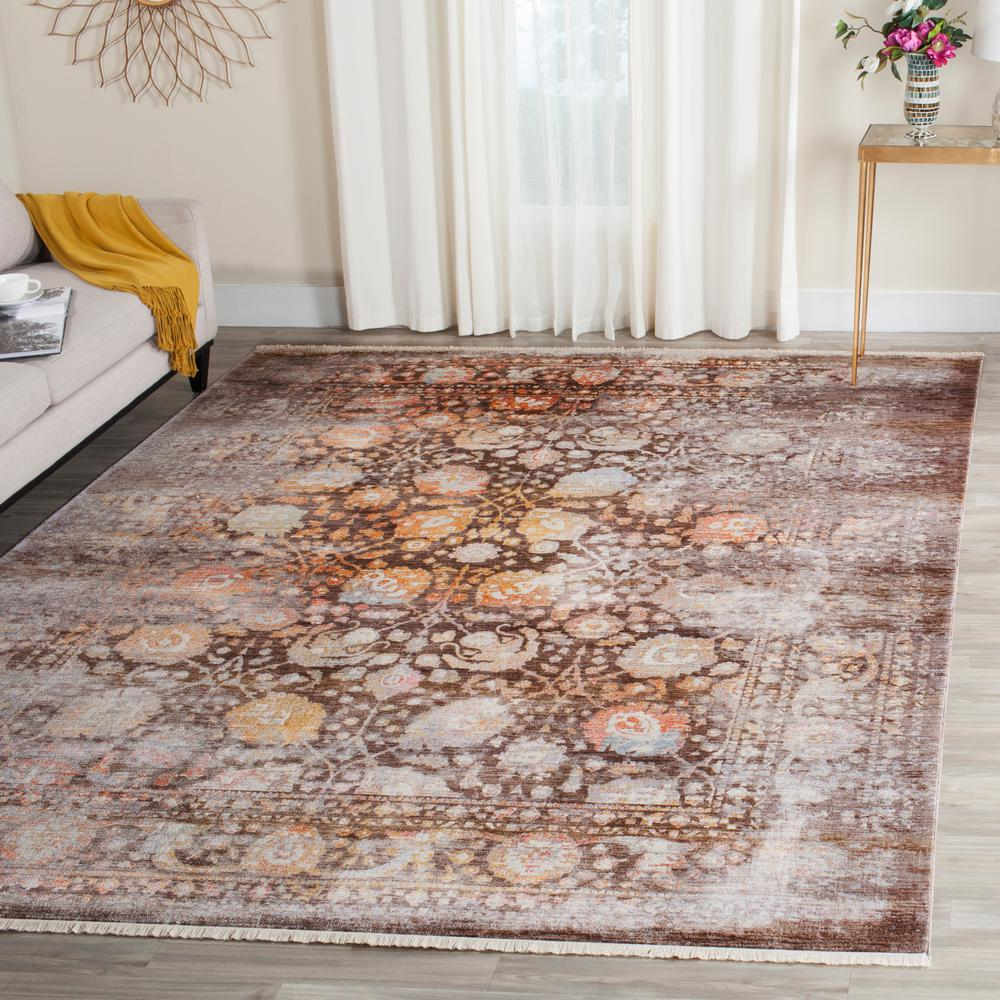Vintage Persian Brown/Multi 6 ft. x 9 ft. Area Rug