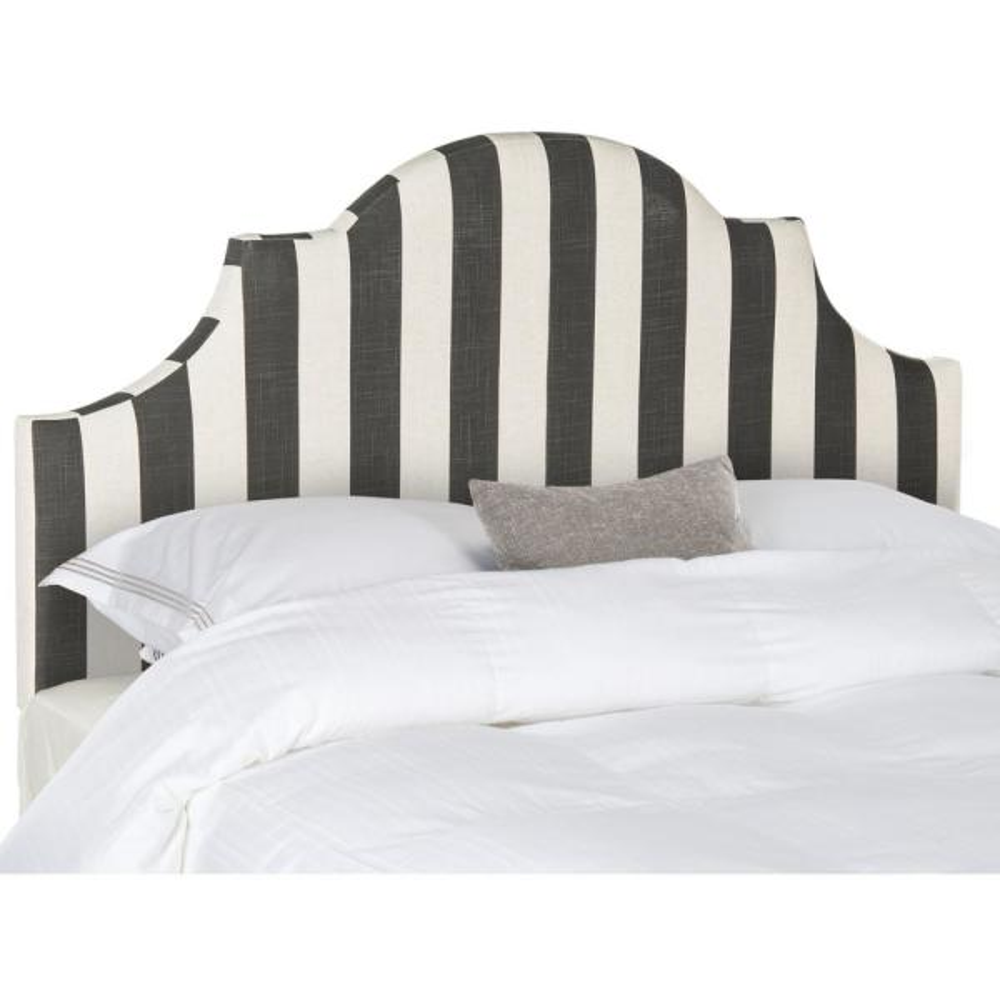 Safavieh Hallmar Black/White Stripe Full Headboard MCR4679K