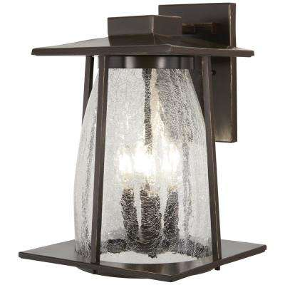 Marlboro 4-Light Oil Rubbed Bronze with Gold Highlights Outdoor Wall Lantern Sconce