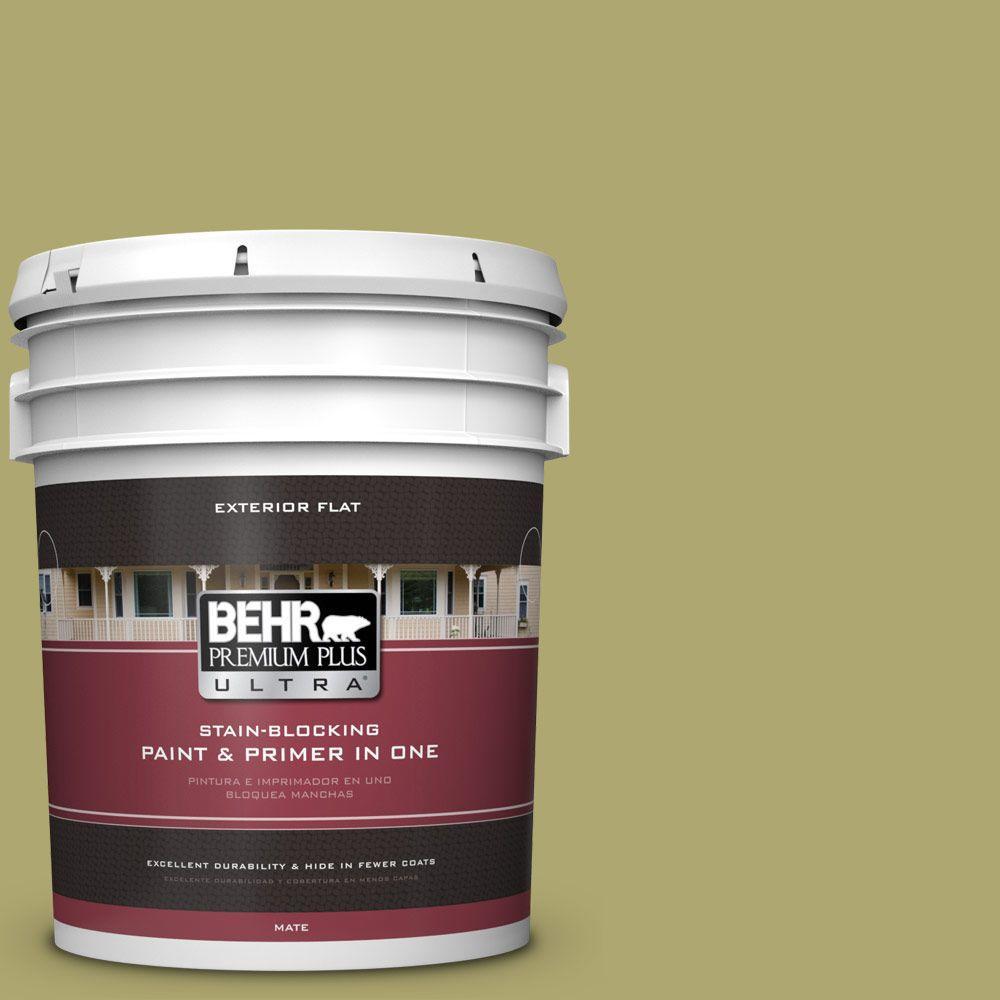 BEHR Premium Plus Ultra 5-gal. #PPU9-5 Natchez Moss Flat Exterior Paint