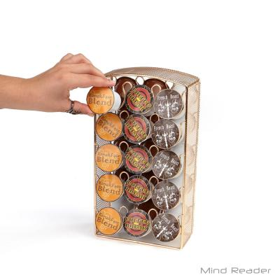 30-Capacity Rose Gold Mesh K-Cup Storage Rack and Coffee Pod Carousel