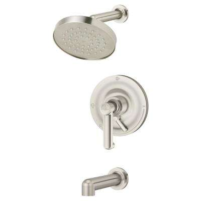 Museo 1-Handle Wall Mounted Tub and Shower Trim Kit in Satin Nickel (Valve Not Included)