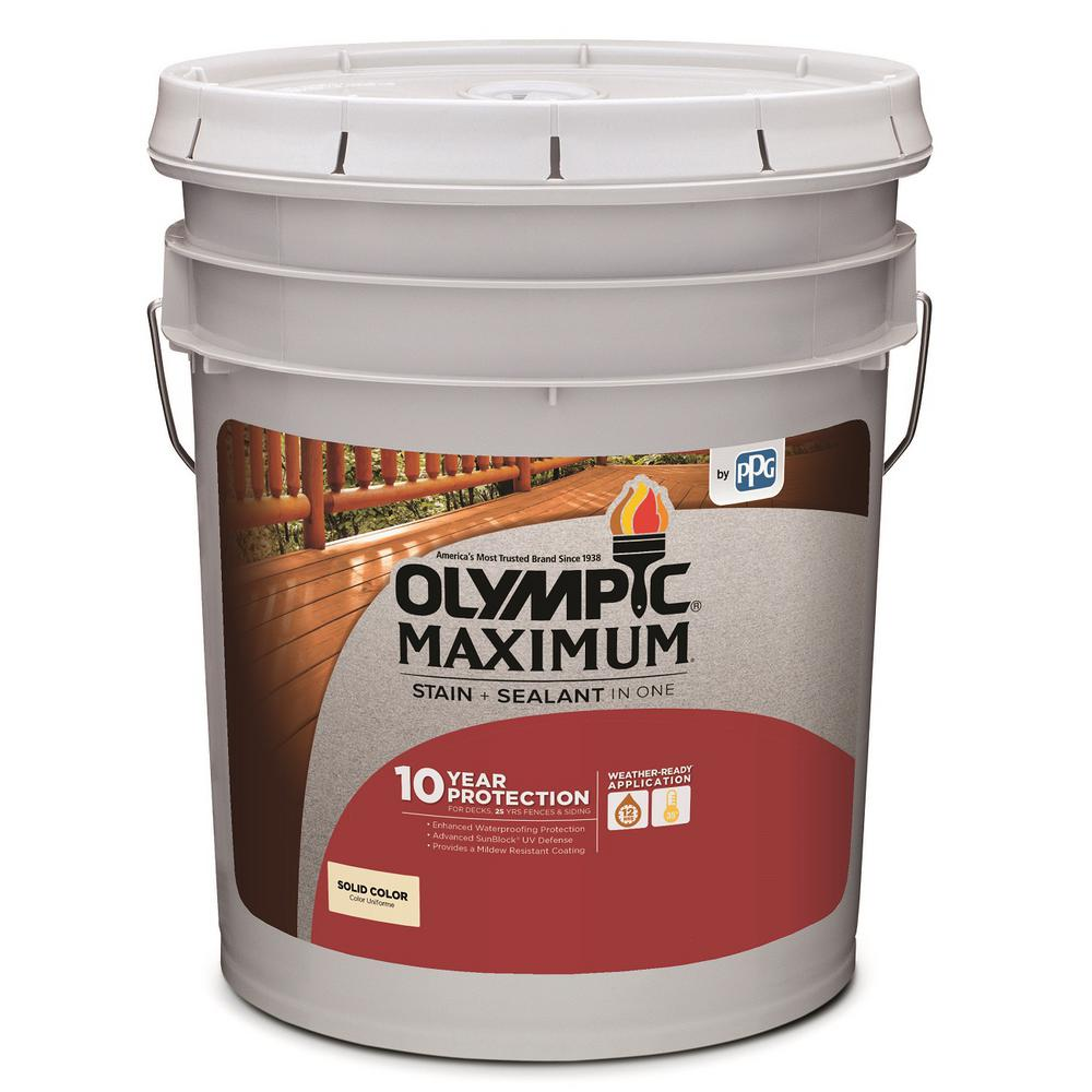 Olympic Maximum 5 Gal Base 2 Solid Color Exterior Stain And Sealant In One 79602a 05 The Home