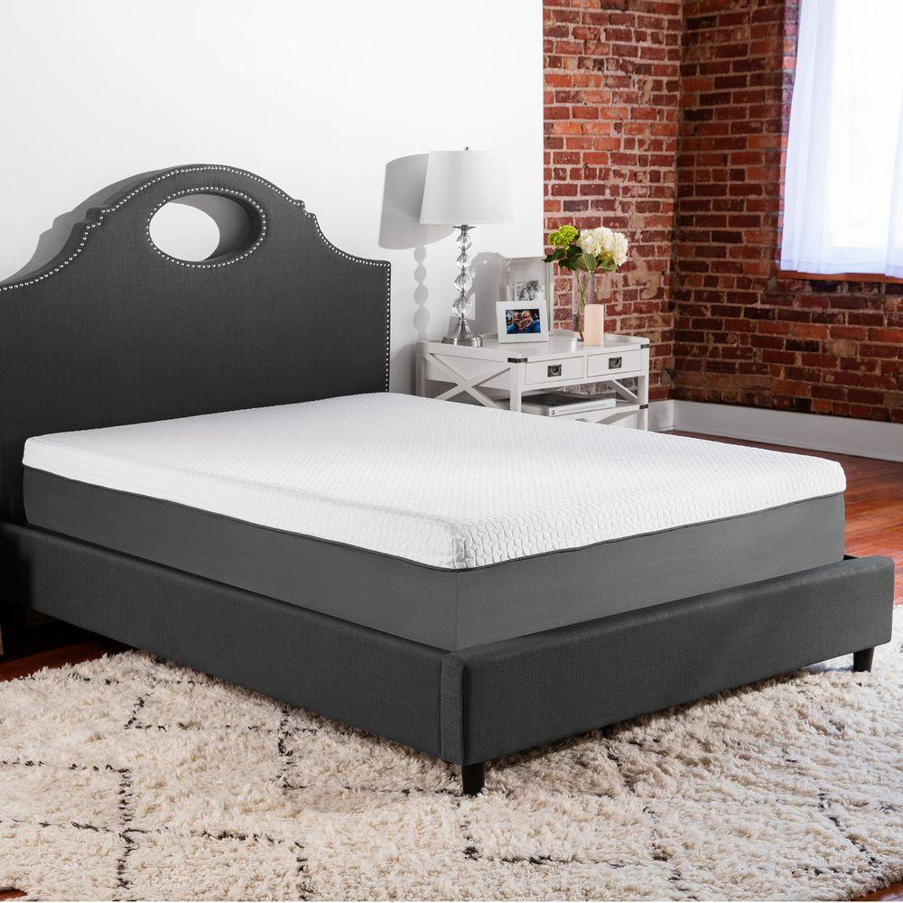 biopedic supreme 10 in firm twin xl gel infused memory foam mattress 96228 the home depot. Black Bedroom Furniture Sets. Home Design Ideas