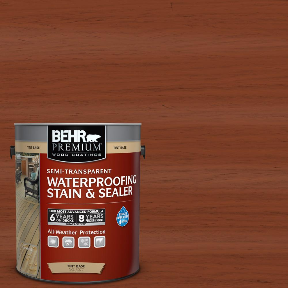 BEHR Premium 1 gal. #ST-142 Cappuccino Semi-Transparent Waterproofing Exterior Wood Stain and Sealer