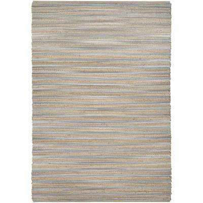 Nature's Elements Lodge Straw-Grey 6 ft. x 9 ft. Area Rug