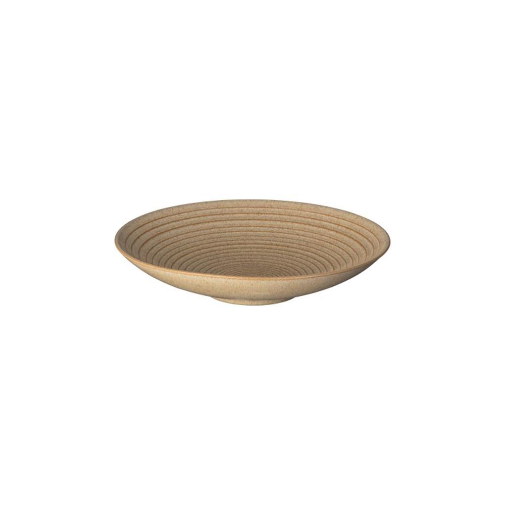 Denby Studio Craft 10 in. Birch Medium Ridged Bowl CRFT-109B