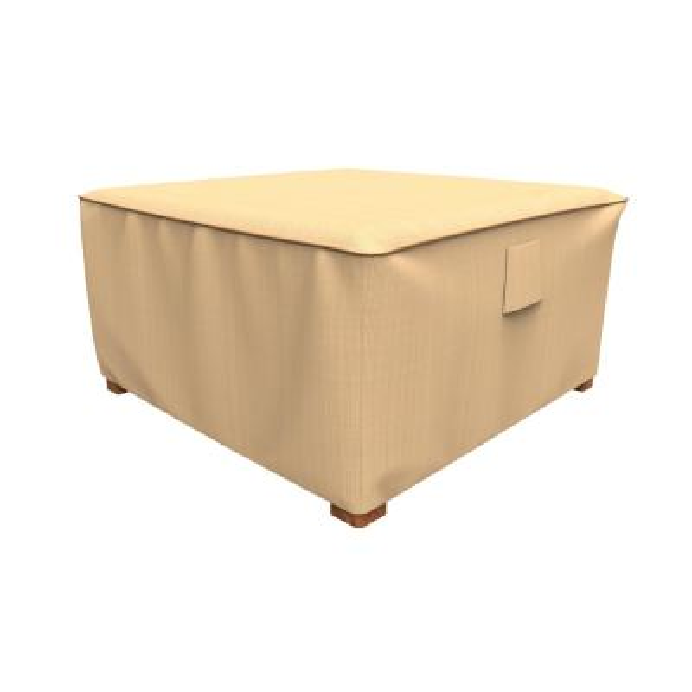 Rust-Oleum NeverWet Savanna Extra-Large Tan Square Patio Table/Ottoman Cover