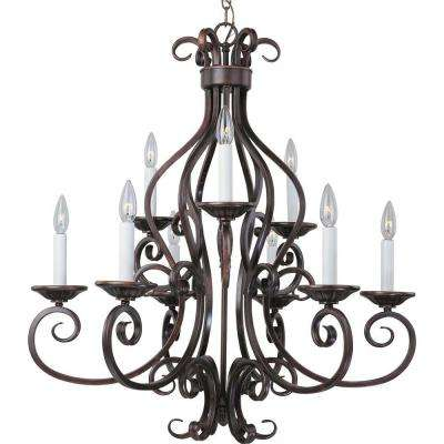 Manor 9-Light Oil-Rubbed Bronze Chandelier