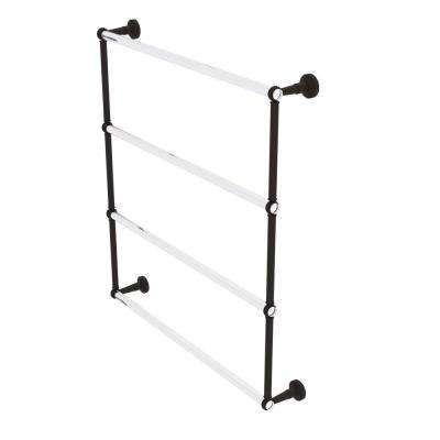 Allied Brass PG-24D-ORB Pacific Grove Collection Two Post Toilet Paper Holder with Dotted Accents Oil Rubbed Bronze