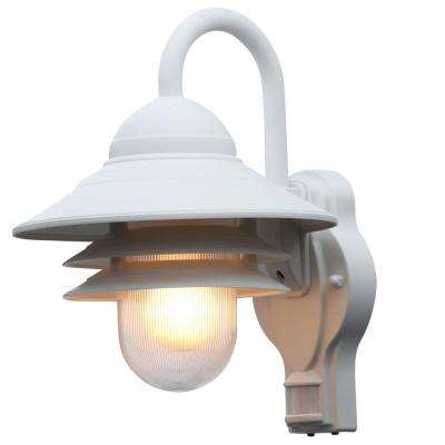 Marina 110 Degree Outdoor White Motion-Sensing Lamp