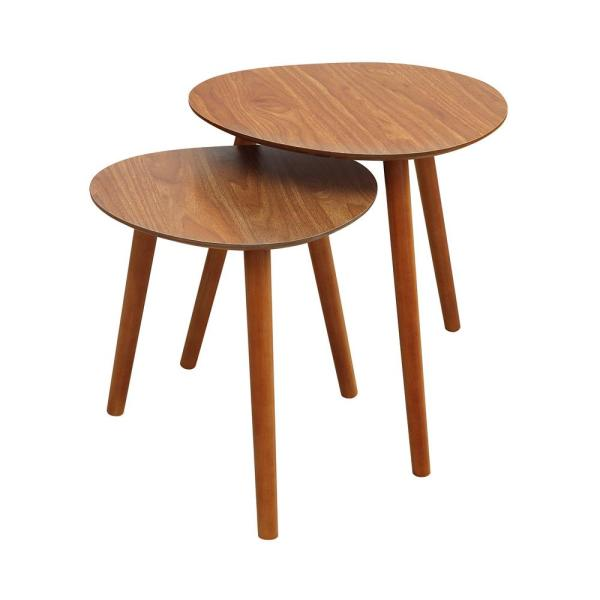 Convenience Concepts Oslo Cherry Java Nesting End Tables S20-233