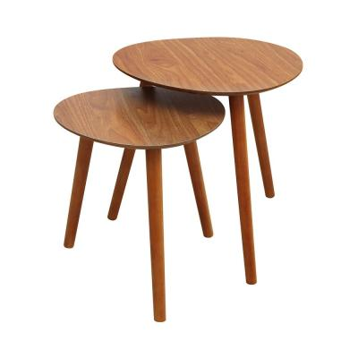Oslo Cherry Java Nesting End Tables