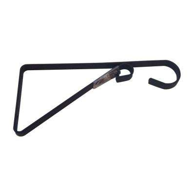 9.81 in. x 0.625 in. x 4.5 in. Black Iron Plant Bracket