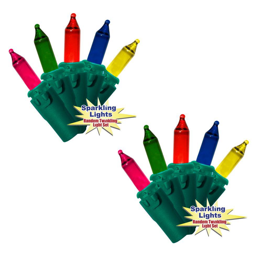 100-Light Twinkling Multi-Color Mini Lights (Set of 2)
