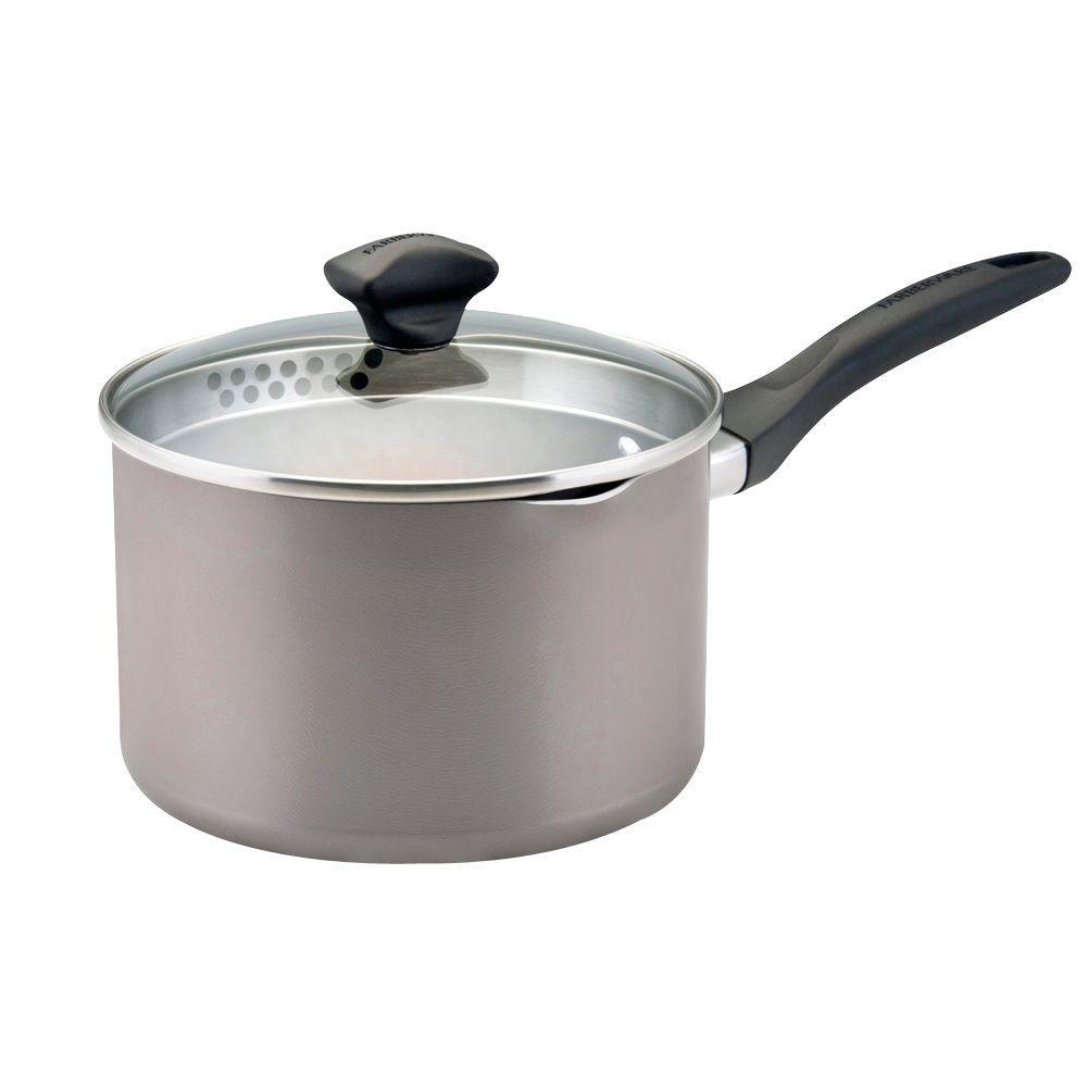 3 Qt. Aluminum Saucepan with Lid