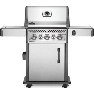 Rogue 3-Burner Propane Gas Grill in Stainless Steel with Infrared Rear and Side Burners