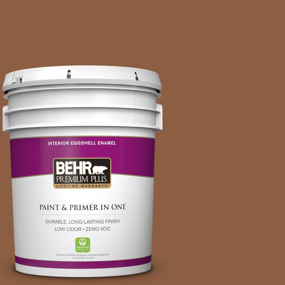 5 gal. #260F-7 Caramel Latte Zero VOC Eggshell Enamel Interior Paint