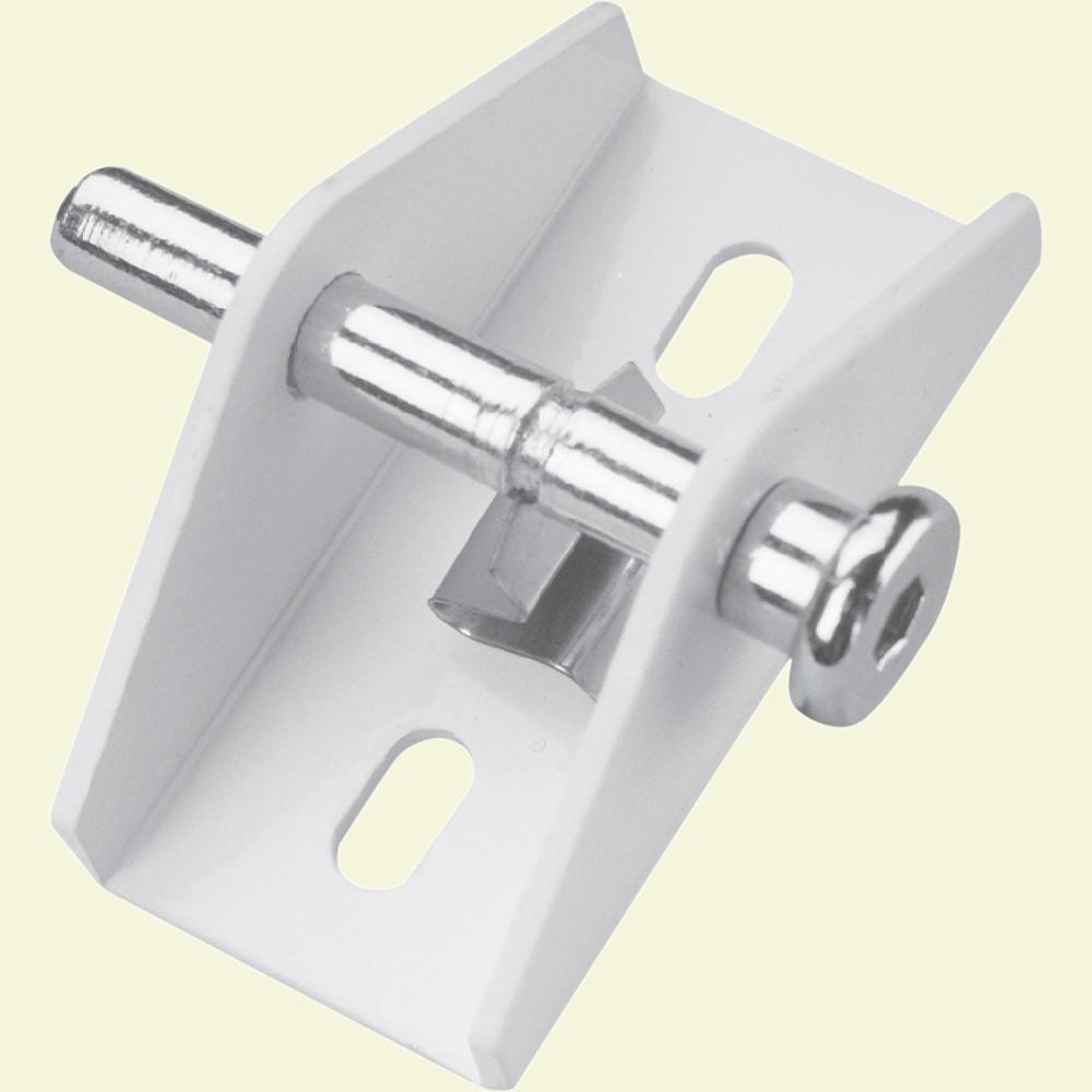 White Push/Pull Sliding Door Lock