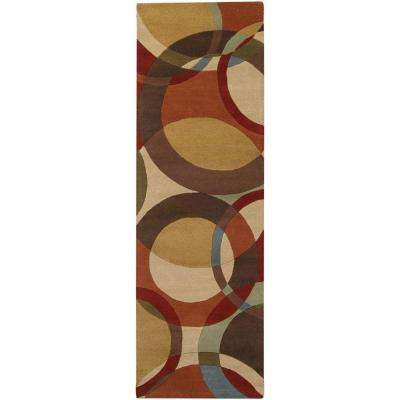 Seletar Brown 3 ft. x 8 ft. Runner Rug