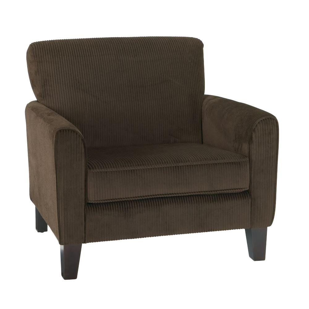 Sierra Coffee Corduroy Arm Chair